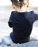 Longsleeve met sierrand KinderBasics - CREME_