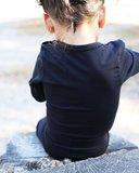 Longsleeve met sierrand KinderBasics - ZWART_