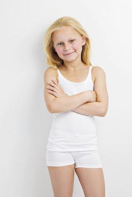 Hemd met roosje KinderBasics - FUSCHIA
