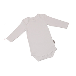 Romper envelophals WIT KinderBasics