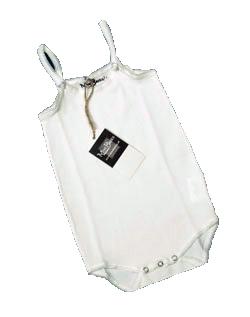 Romper Meisje Hemdmodel KinderBasics - WIT