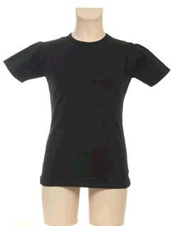 T-Shirt Meisje KinderBasics - ZWART