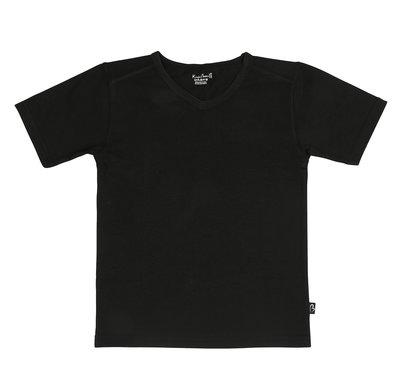 Shirt V-hals Jongen KinderBasics - ZWART