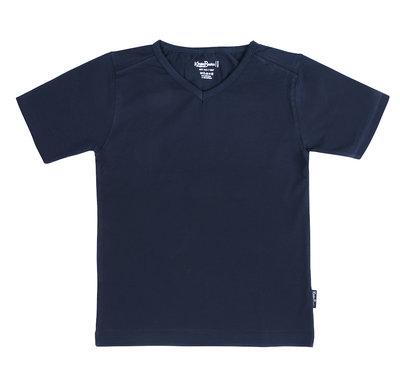 Shirt V-hals Jongen KinderBasics - DONKER BLAUW NAVY