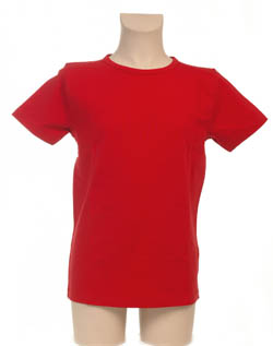 Super Sale T-Shirt 100% katoen Jongen KinderBasics - ROOD
