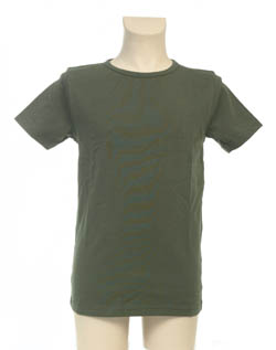 Super Sale T-Shirt 100% katoen Jongen KinderBasics - LEGERGROEN