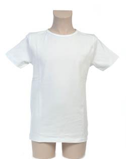 Super Sale T-Shirt 100% katoen Jongen KinderBasics - WIT