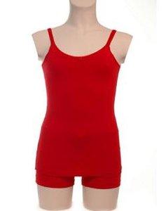 Rood meisjes onderhemd met roosje KinderBasics