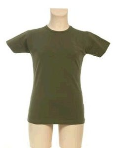 Legergroen KinderBasics Basic Shirt Meisje